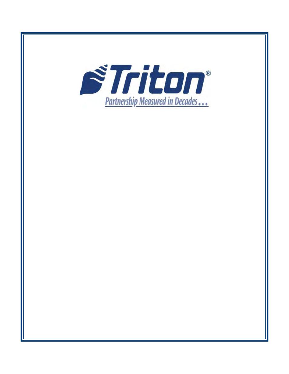 Triton rl5000 x2 series user manual user manual 122 pages publicscrutiny Choice Image