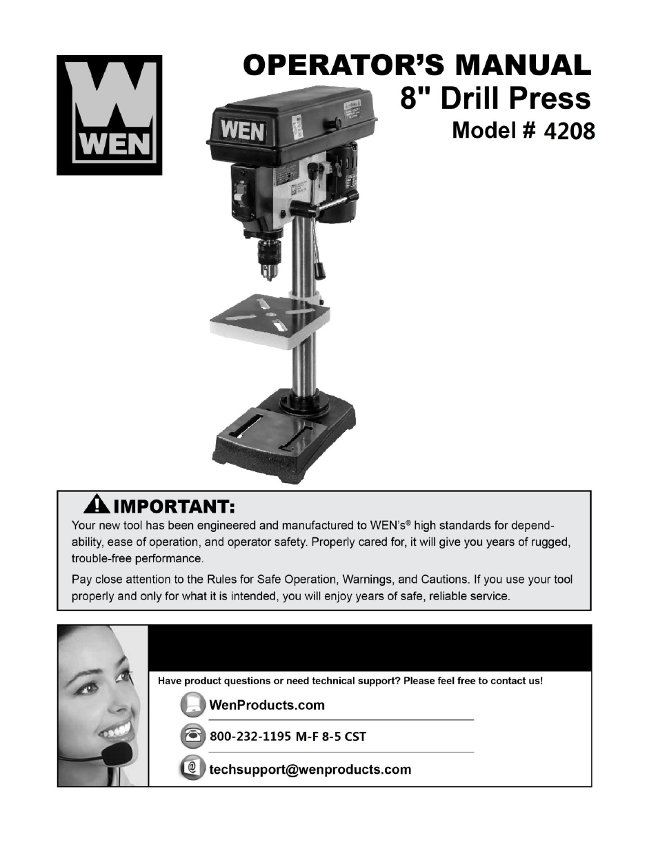 WEN 4208 8 inch 5 Sd Drill Press User Manual | 22 pages Drill Press Wiring Diagram on drill press safety, drill press controls, drill press transmission, drill press plug, drill press tools, drill press forum, drill press frame, drill press maintenance, drill press accessories, drill press switch, drill press assembly, drill press lighting, drill press capacitor, drill press specifications, drill press dimensions, drill press operation, drill press lubrication system, drill press exploded view, drill press cabinet,