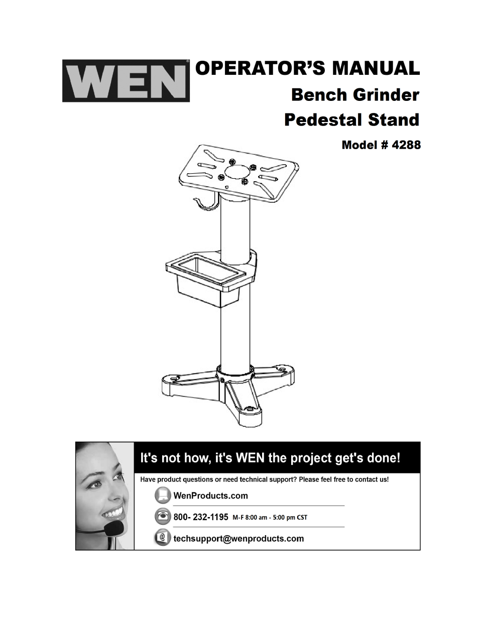 Incredible Wen 4288 Bench Grinder Pedestal Stand User Manual 4 Pages Machost Co Dining Chair Design Ideas Machostcouk