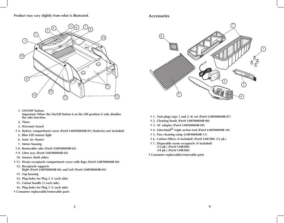 sc 1 st  manualsdir.com & Applica LitterMaid LME9000MB User Manual | Page 3 / 11
