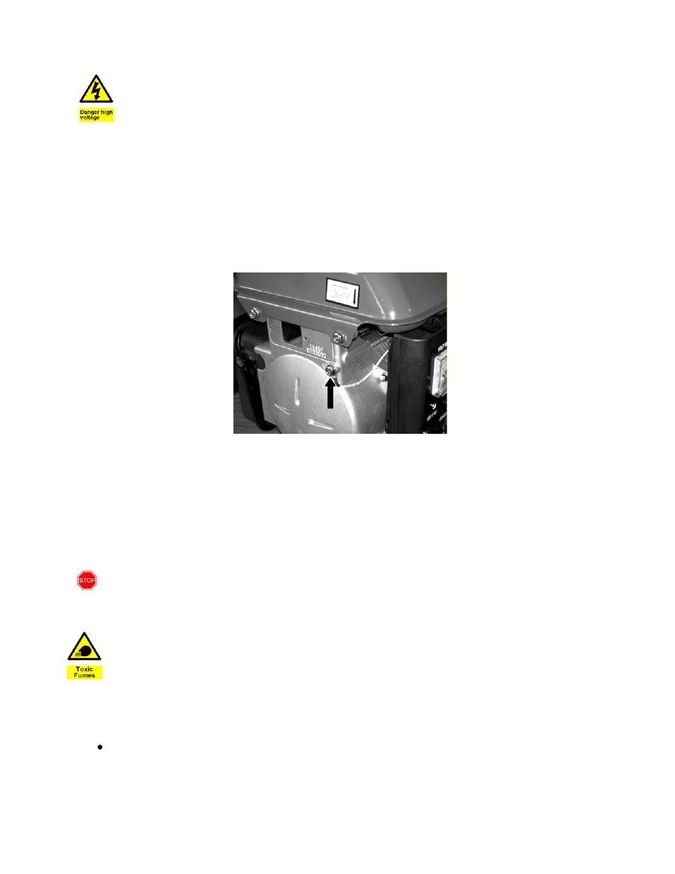 Step 3- ground the generator, Warning, Danger | WEN 56100 Power Pro ...