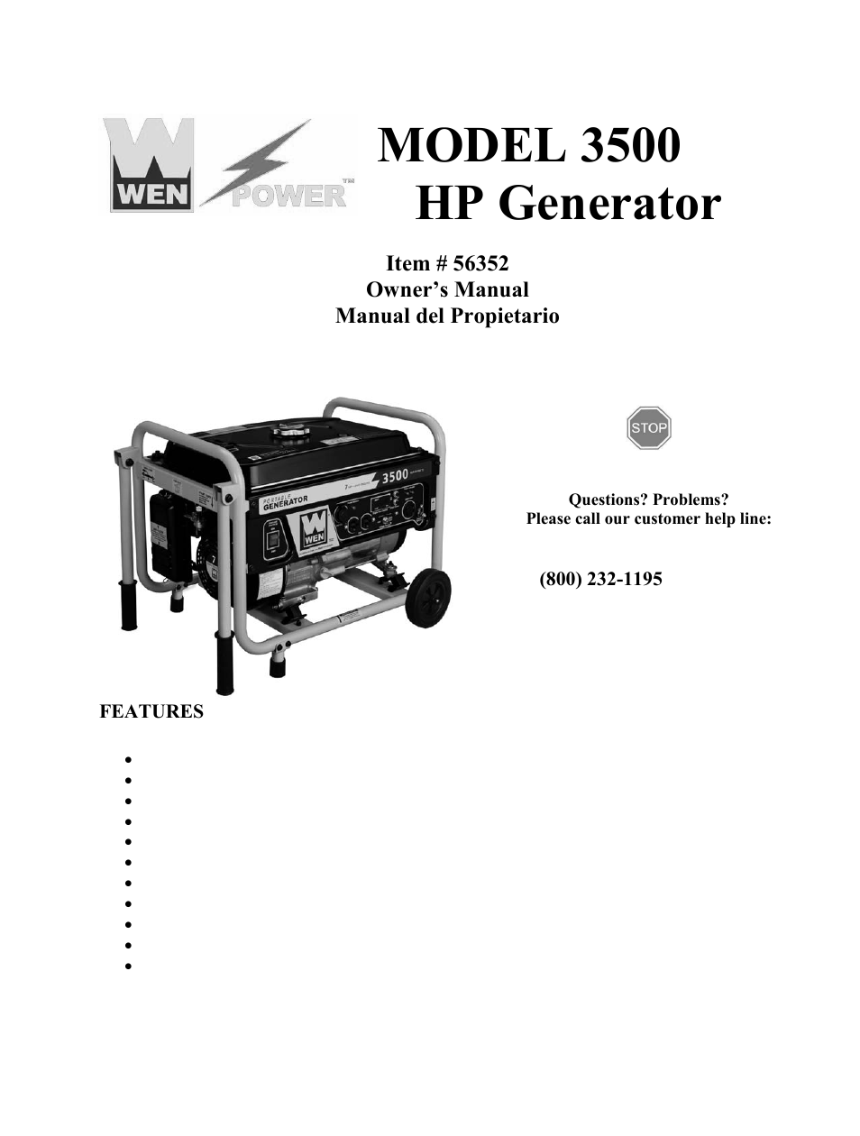wen 56352 3500 watt manual user manual 40 pages rh manualsdir com All Power Generator Schematic Generator Installation Diagram