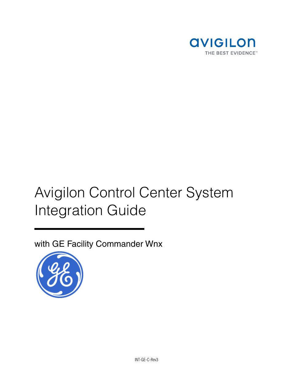 avigilon ge facility commander wnx integration user manual 13 pages rh manualsdir com facility commander wnx 7.7 user manual GE Facility Commander