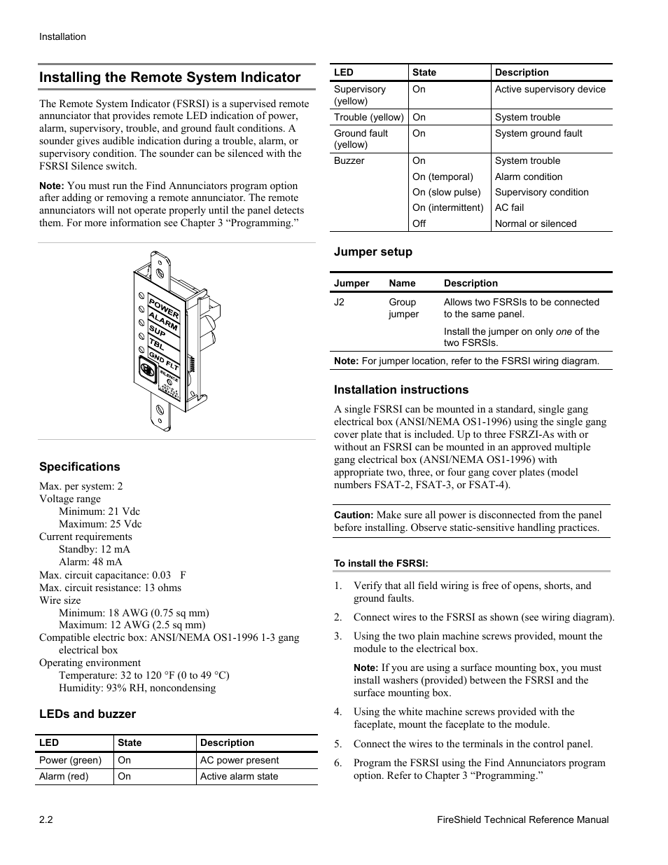 installing the remote system indicator   edwards signaling fireshield 10  zone user manual   page 12 / 68