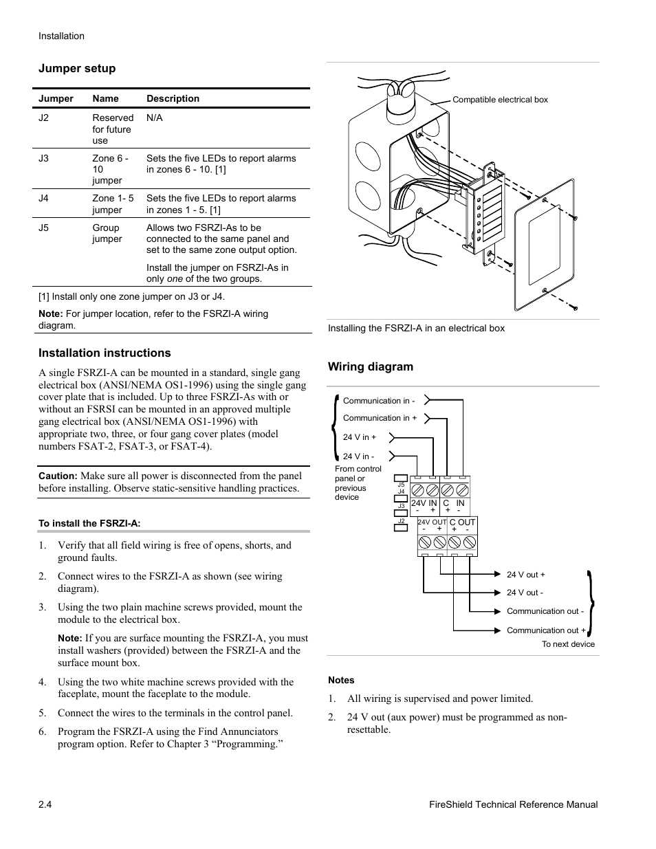 Jumper Setup  Installation Instructions  Wiring Diagram