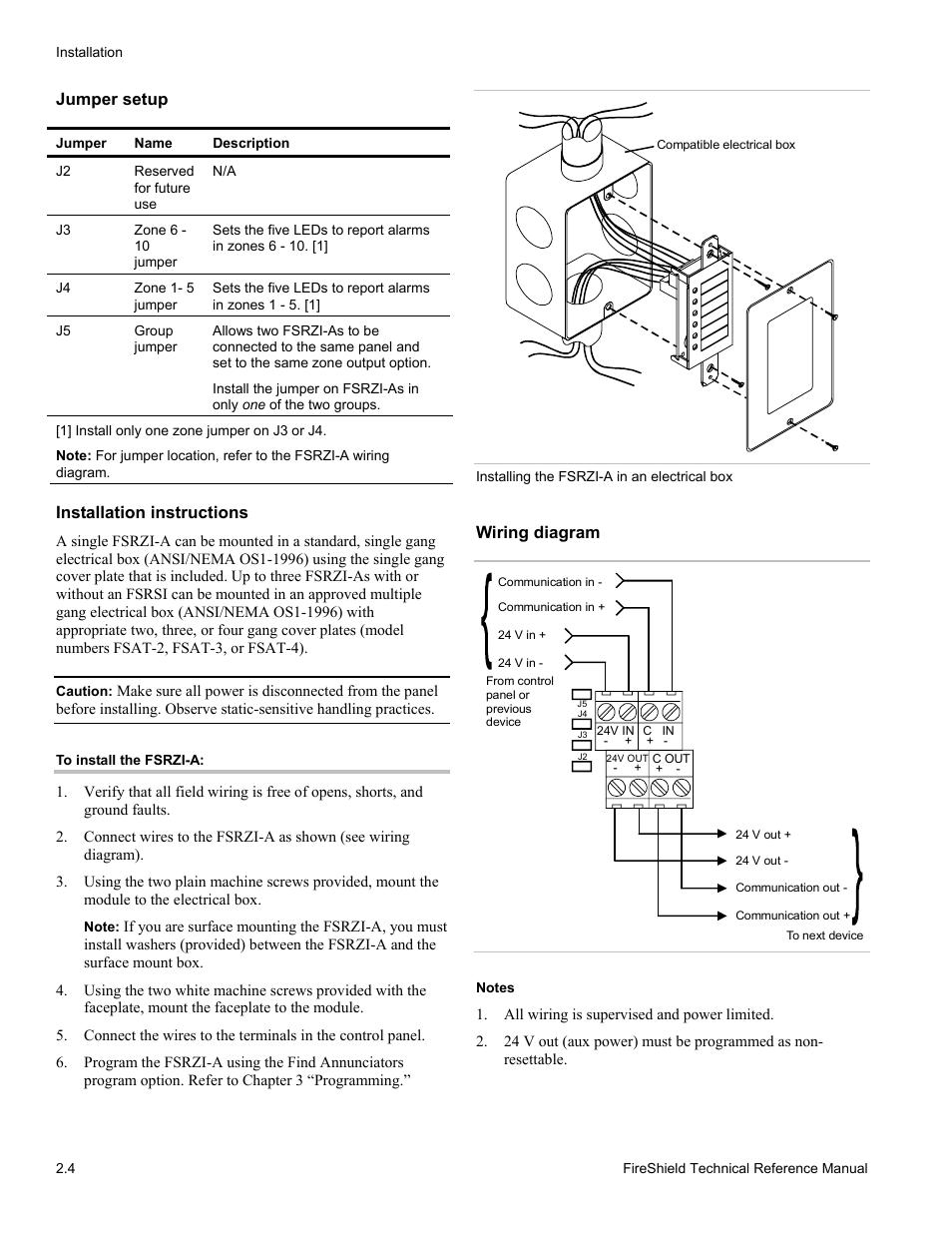 Jumper Setup  Installation Instructions  Wiring Diagram
