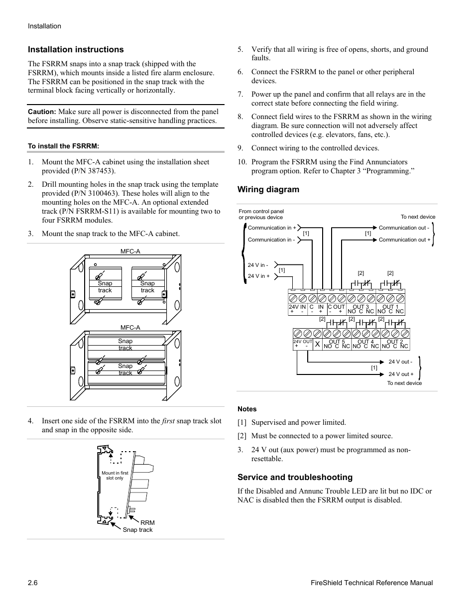 Installation Instructions  Wiring Diagram  Service And