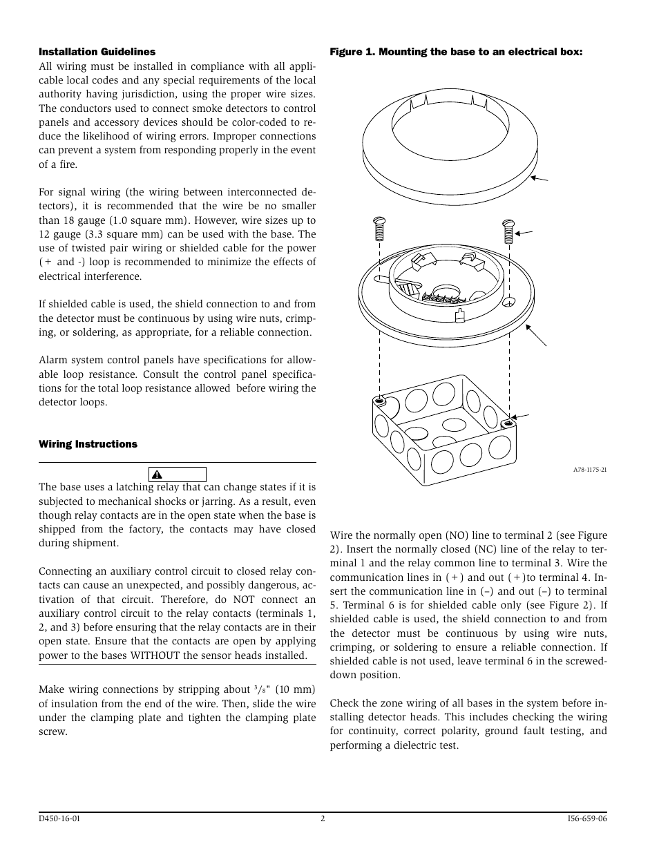 Fire Lite B224rba Plug In Relay Detector Bases User Manual Page Power Circuit 2 4 Also For B524rba