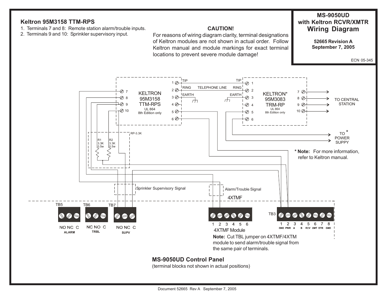 fire lite ms 9050ud with keltron transmitter receiver wiring diagram Fire Lite MS-9050UD at Ms 9050ud Wiring Diagram