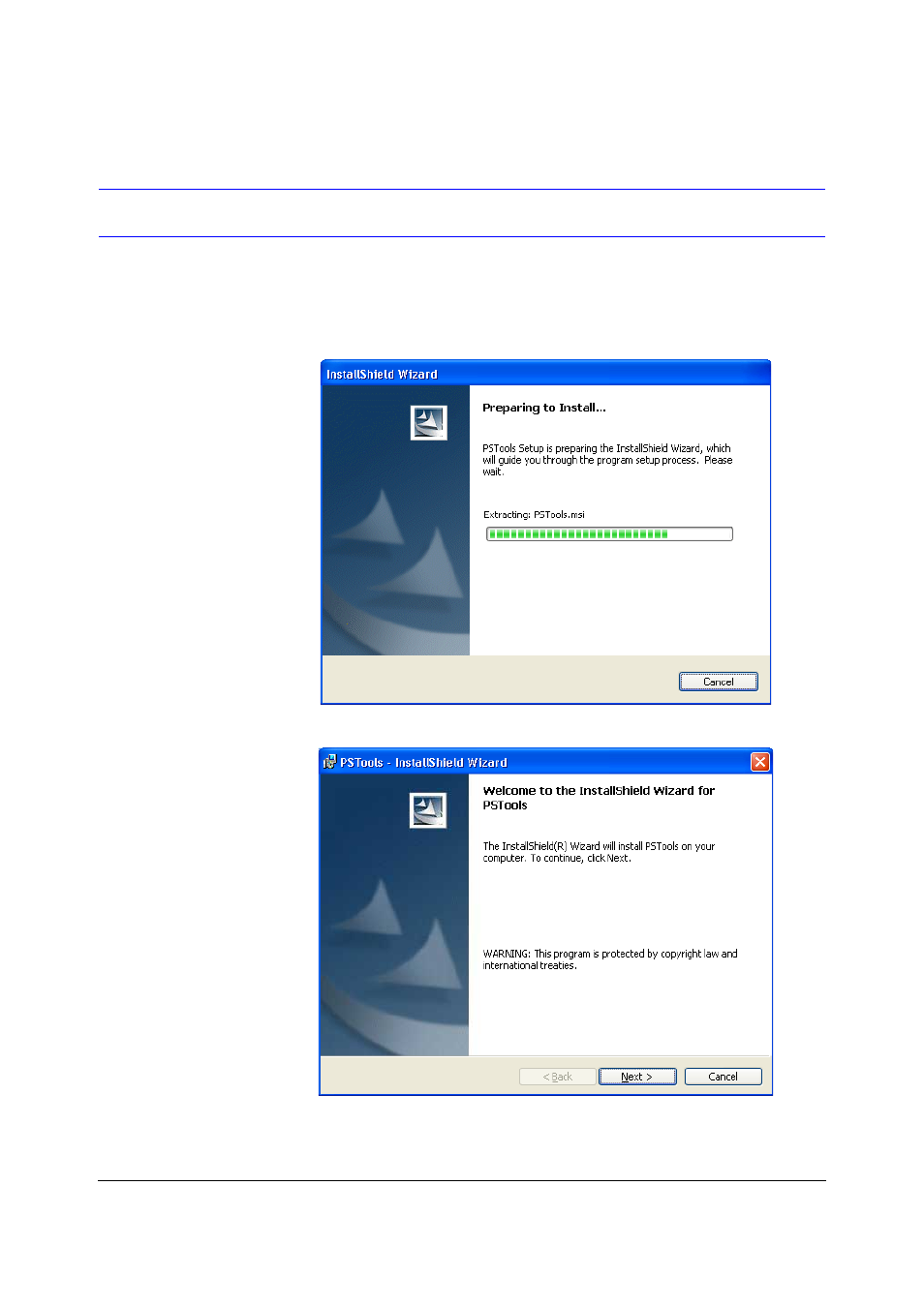 Installing ps-tools | Fire-Lite PS Tools MS-9600 User Manual | Page