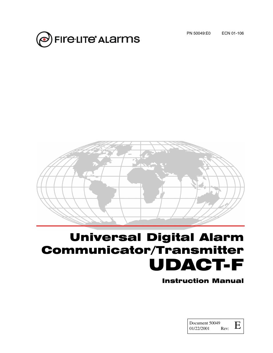 Fire-Lite UDACT-F Universal Digital Alarm Communicator Transmitter User  Manual | 68 pages