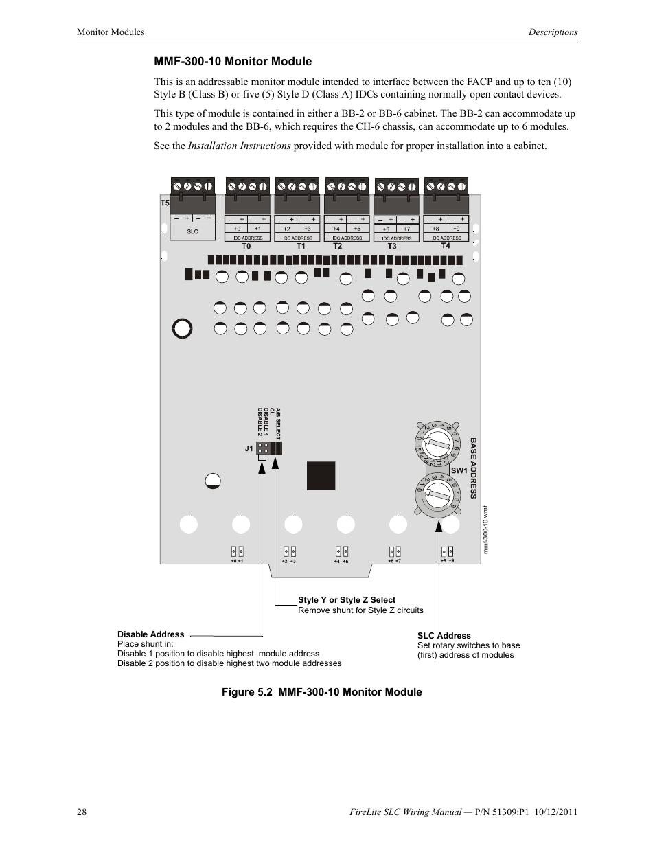 Wiring Diagram Shunt Intelligent Wire Data Schema Home Outlet House Diagrams Darren Criss Mmf 300 10 Monitor Module Fire Lite Slc Control Panel Rh Manualsdir Com Ge Breaker