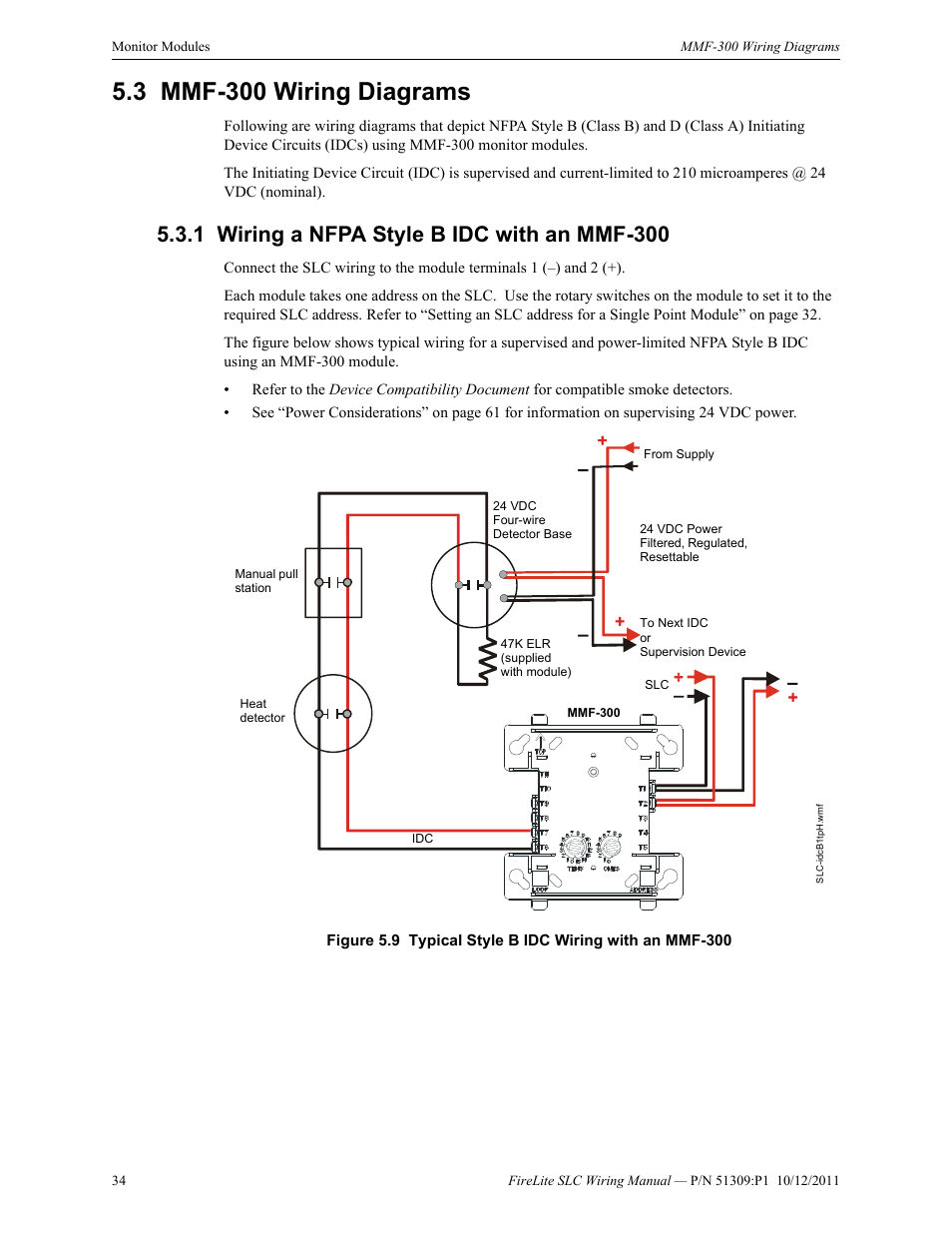 3 Mmf 300 Wiring Diagrams 1 A Nfpa Style B Idc With An Panel Diagram