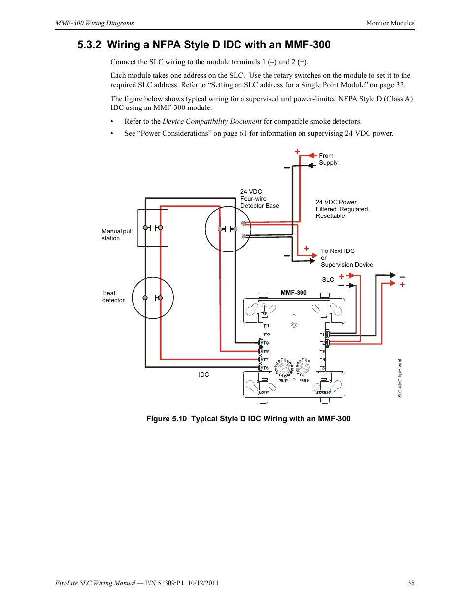2 wiring a nfpa style d idc with an mmf-300, Wiring a nfpa ... on