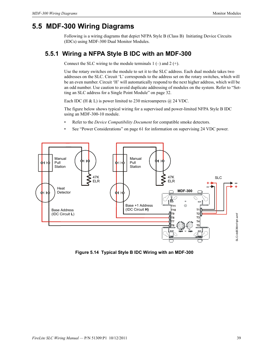 Class B Wiring Diagram Library A Fire Alarm Panel 5 Mdf 300 Diagrams 1 Nfpa Style Idc With An