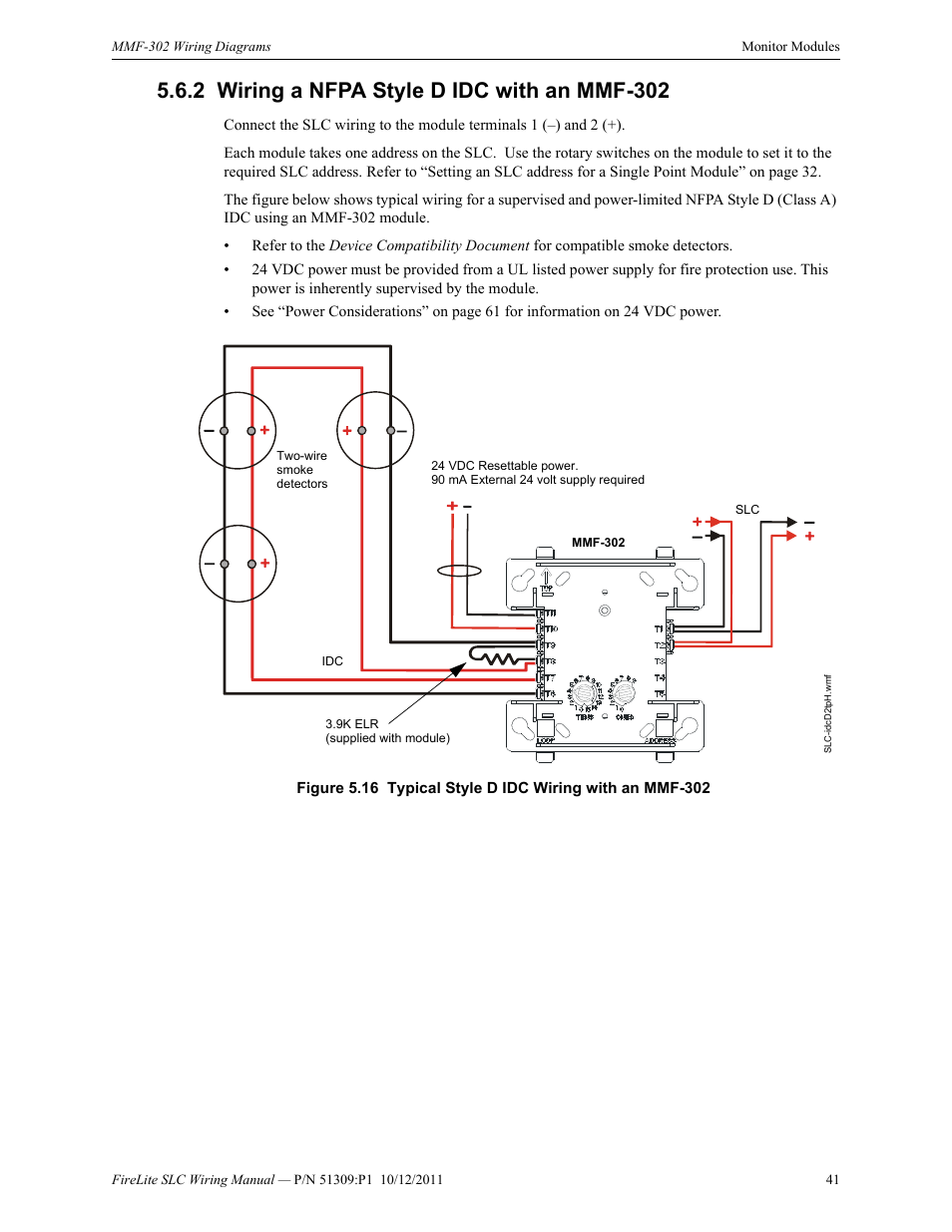 2 wiring a nfpa style d idc with an mmf-302, Wiring a nfpa style d on