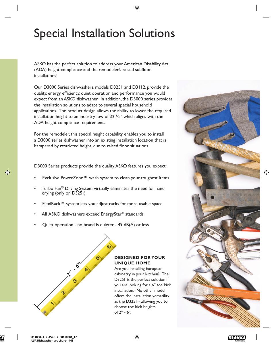 special installation solutions asko d3251 user manual page 17 32 rh manualsdir com Installation Manual RV Toilets Installation Diagrams