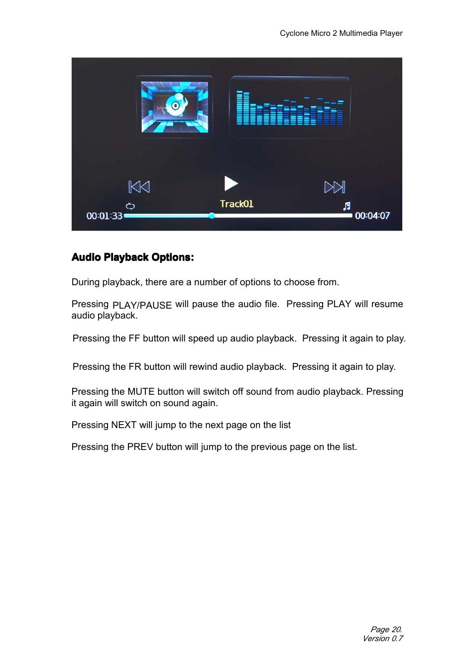 audioplaybackoptions advancedaudiosettings satechi cyclone micro rh manualsdir com cyclone micro 2+ user manual Operators Manual