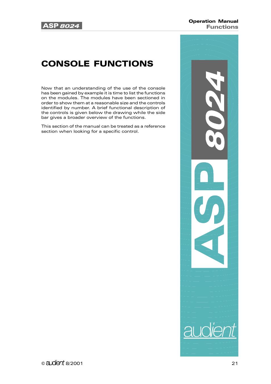 console functions audient asp8024 large format recording console rh manualsdir com Account Management Console Account Management Console