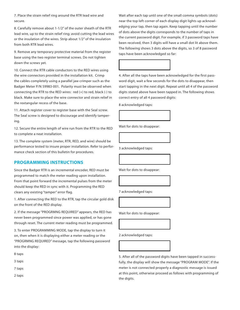 Badger Meter Remote Electronic Display Red User Manual Manual Guide