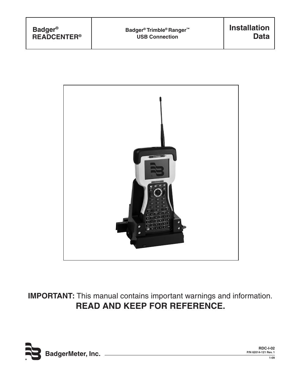 Badger Meter Readcenter User Manual