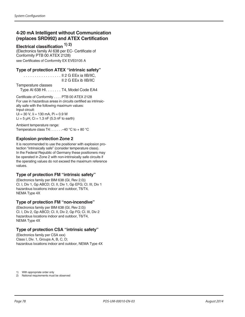 Badger Meter SRD/SRI Valve Positioners User Manual | Page 78