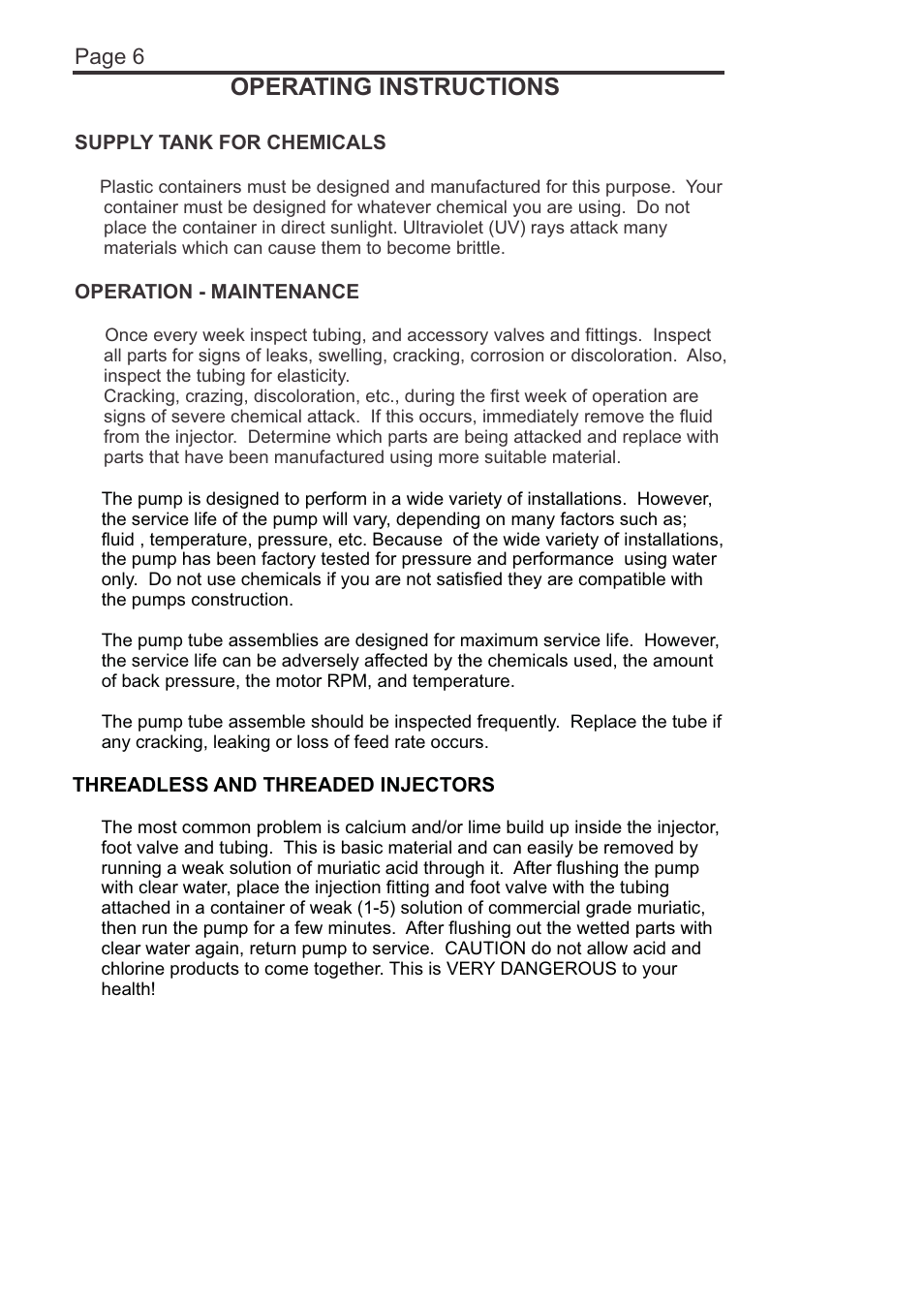 Operating instructions, Page 6 | Blue-White A-1600 FLEXFLO
