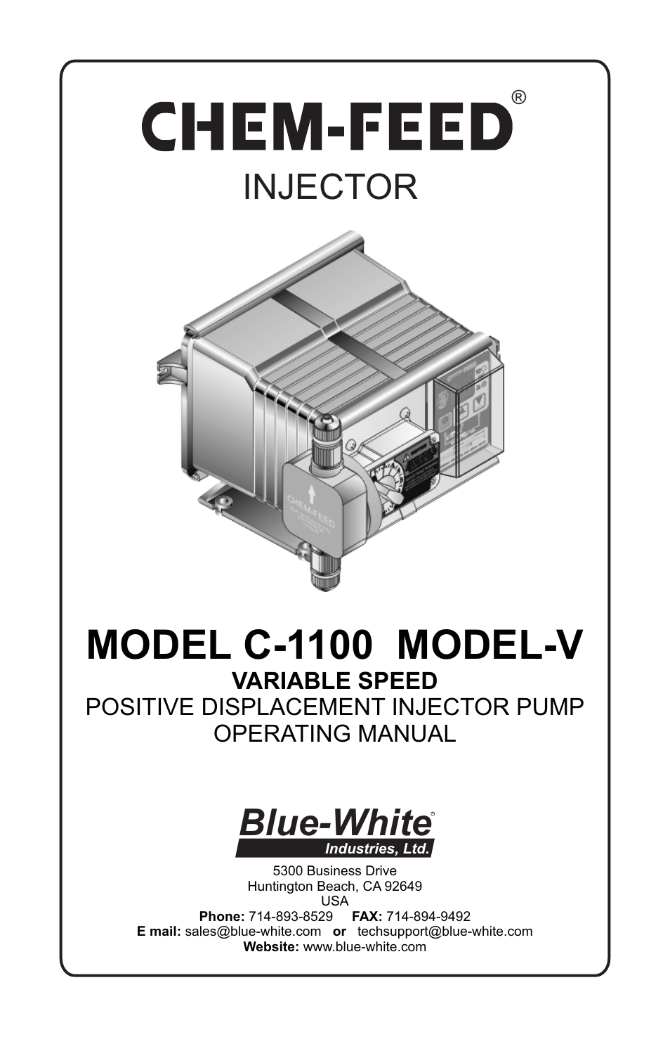 Blue white c 1100 chem feed diaphragm pump user manual 28 pages ccuart Images