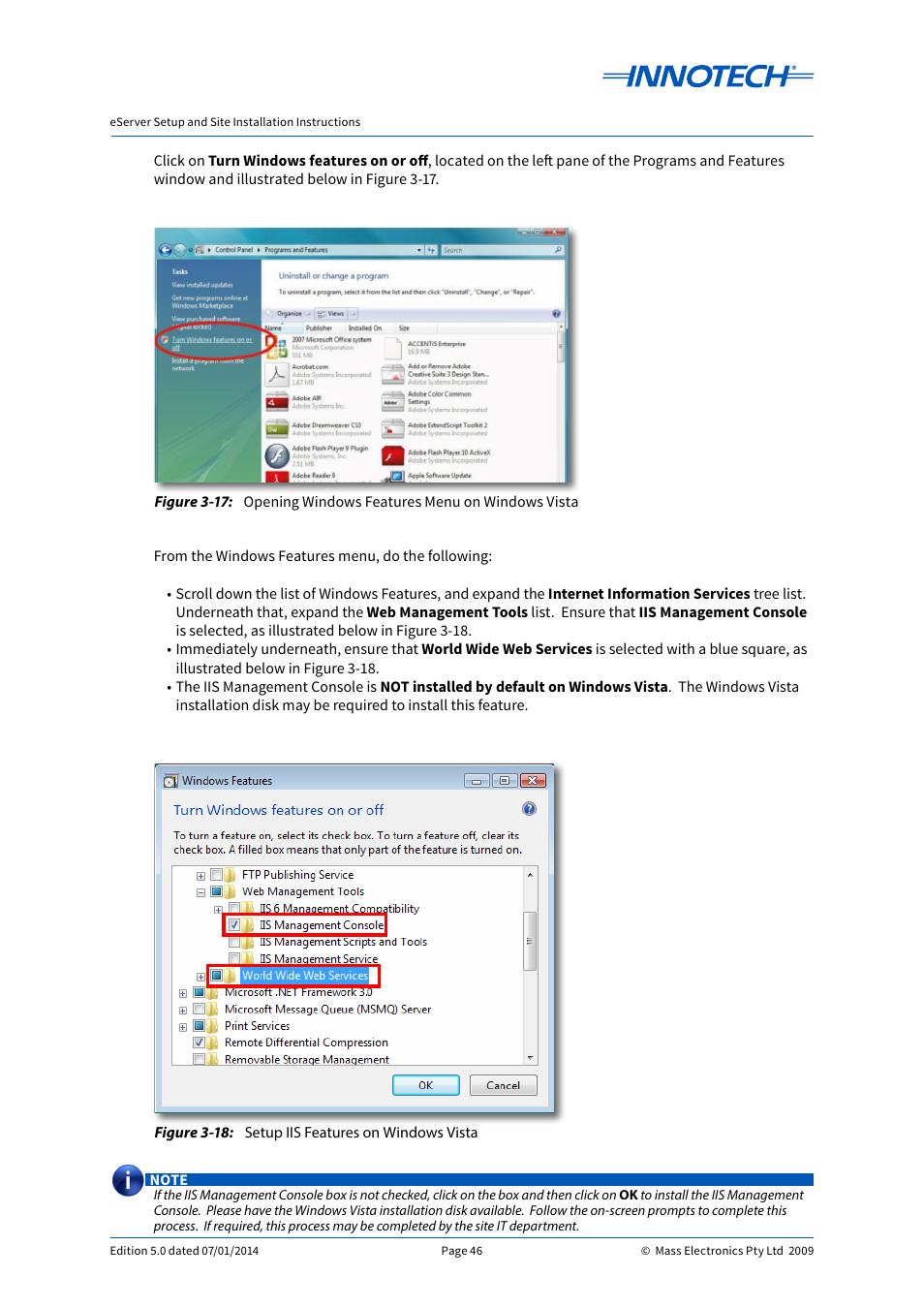 opening windows features menu on windows vista setup iis features rh manualsdir com windows vista user manual pdf User Manual PDF