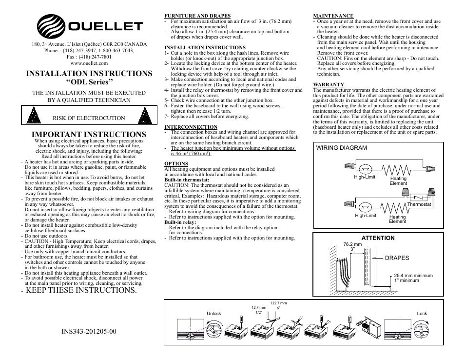 ouellet odl user manual