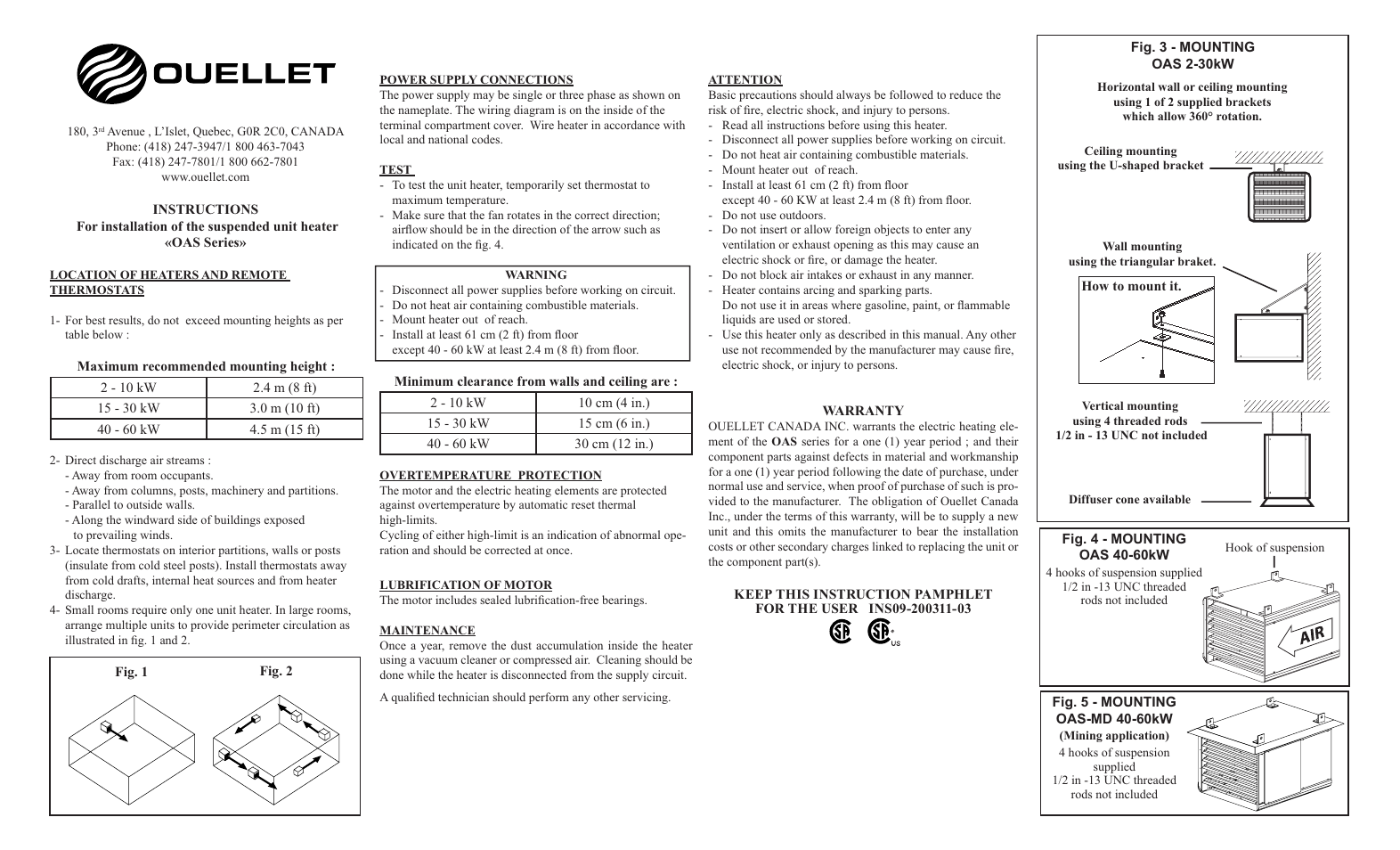 Ouellet Oas User Manual