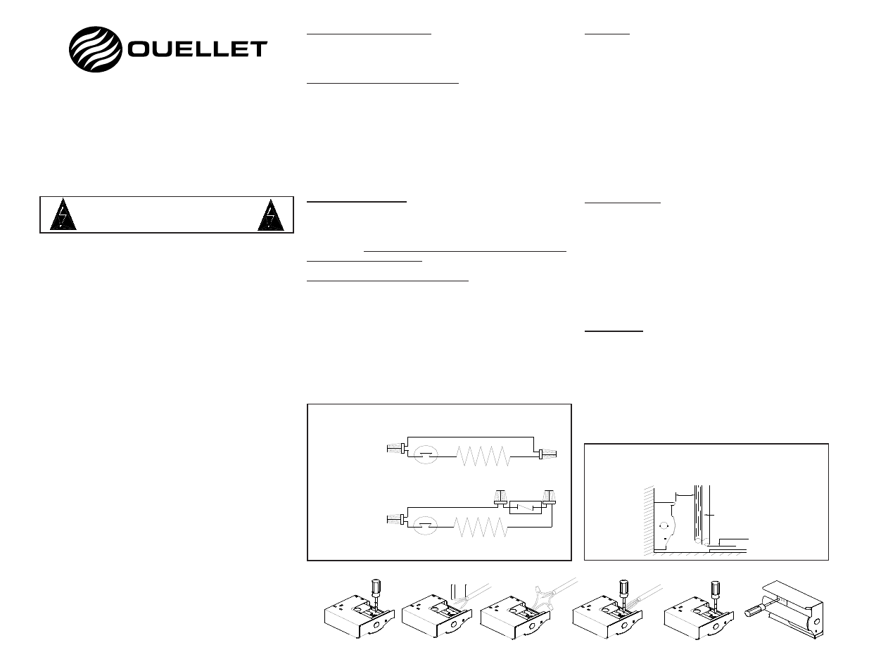 Ouellet Wall Heater Wiring Diagram Wire Center Electric Ofm User Manual 1 Page Rh Manualsdir Com Gas Heaters