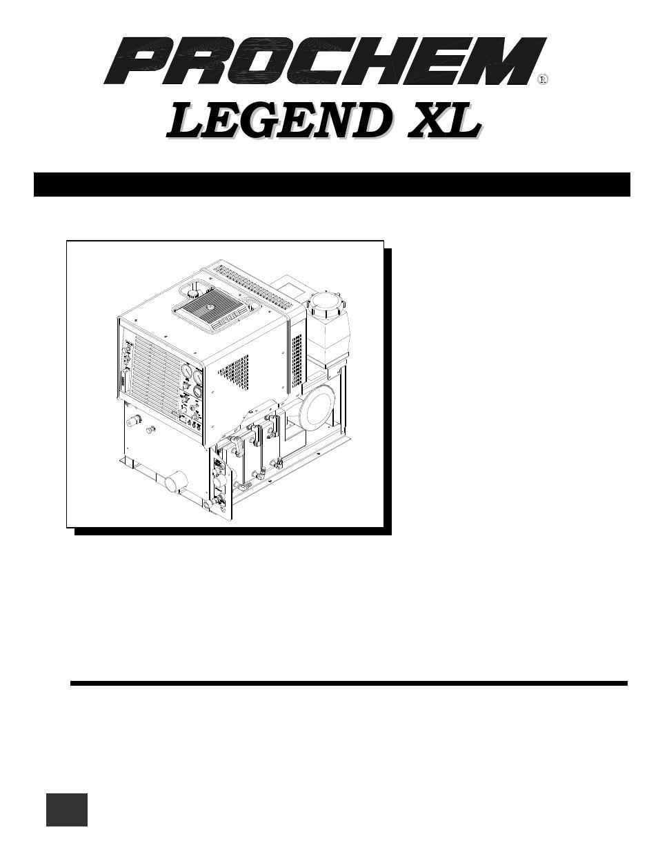 Prochem Legend Xl User Manual