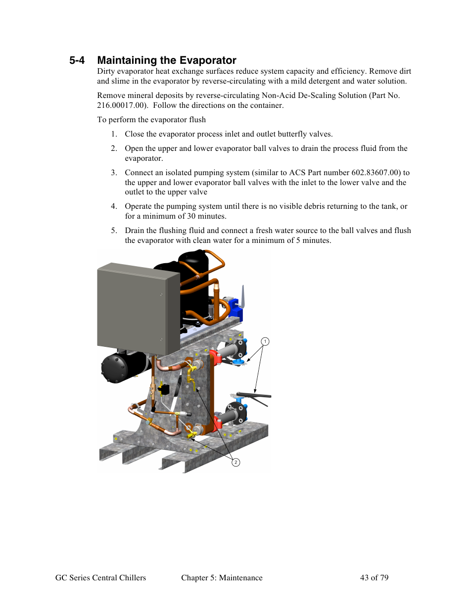 4 maintaining the evaporator | Sterlco GC Series Central Chiller User Manual  | Page 43 / 79
