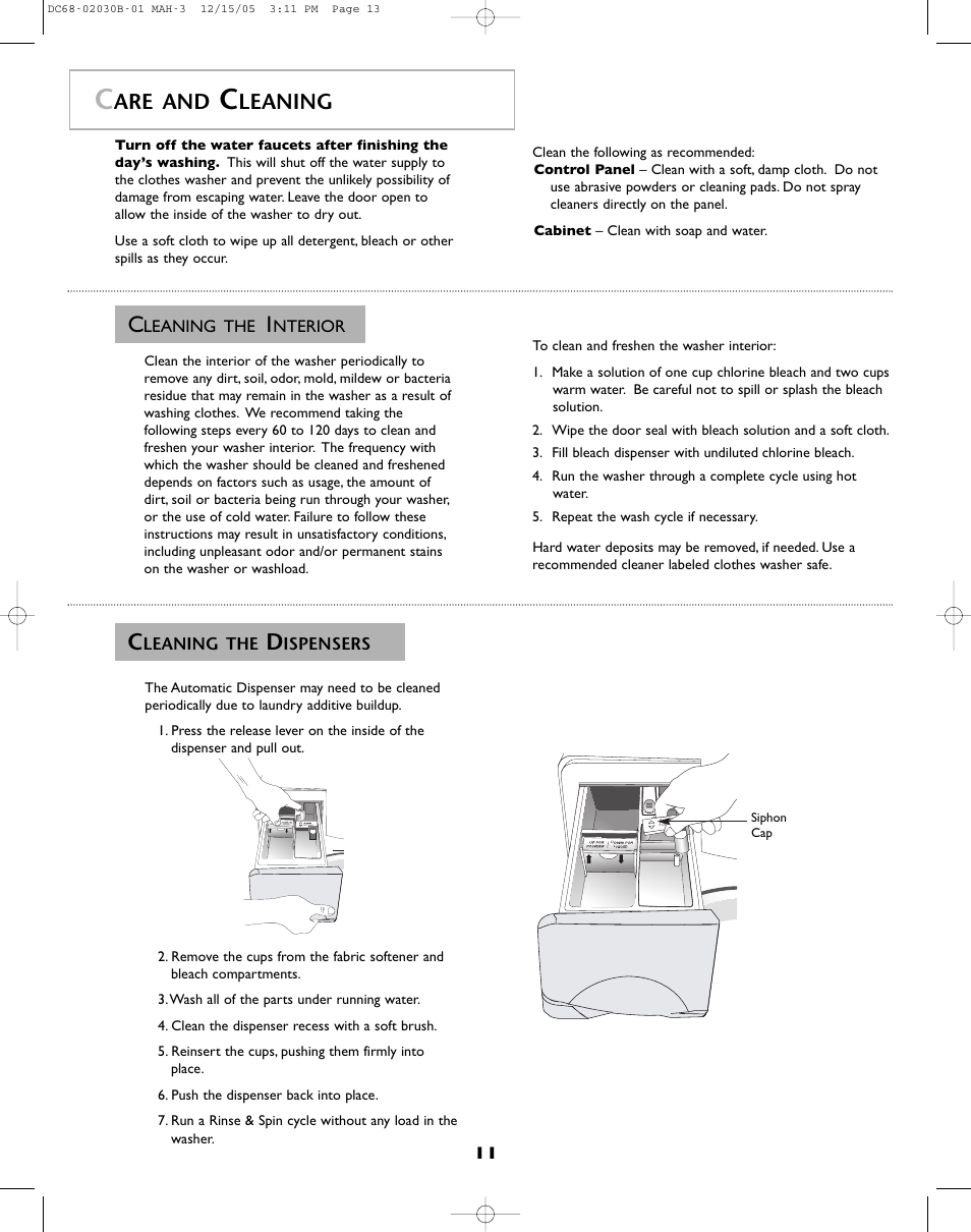 Are and, Leaning | Amana NFW7200TW User Manual | Page 12 / 52