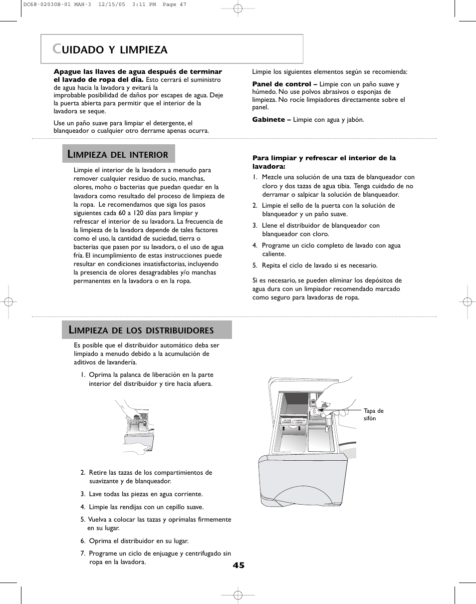 uidado y limpieza amana nfw7200tw user manual page 46 52 rh manualsdir com Amana Model NFW7200TW amana washer model nfw7200tw manual