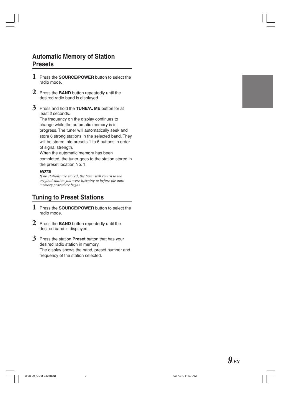 tuning to preset stations alpine cdm 9821 user manual page 11 rh manualsdir com