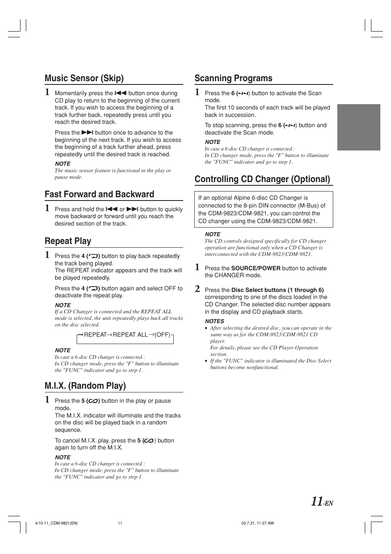 Pdf manual for alpine car receiver cdm-9823.