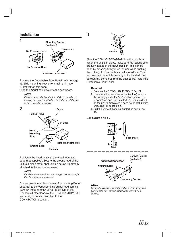 installation alpine cdm 9821 user manual page 17 22 rh manualsdir com Alpine CDA 9854R Alpine CDM 9821 Manual