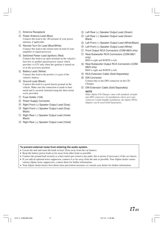 alpine cdm 9821 user manual page 19 22 original mode also rh manualsdir com Alpine CDM 9821 Specs alpine cdm 9821 manual