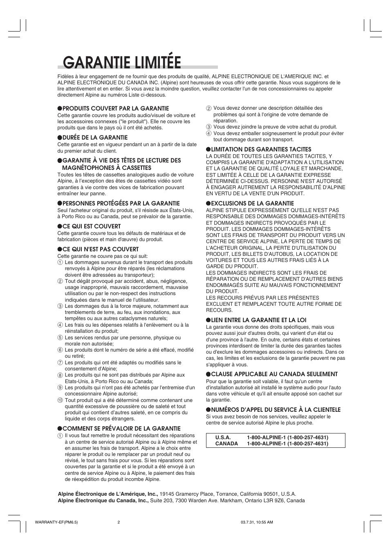 garantie limit e alpine cdm 9821 user manual page 21 22 rh manualsdir com