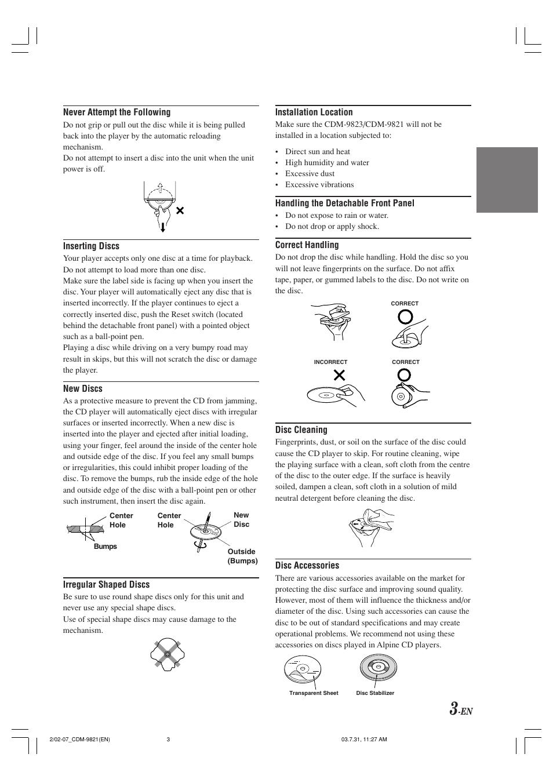 alpine cdm 9821 user manual page 5 22 original mode also for rh manualsdir com Alpine Amp Alpine Receiver Manual