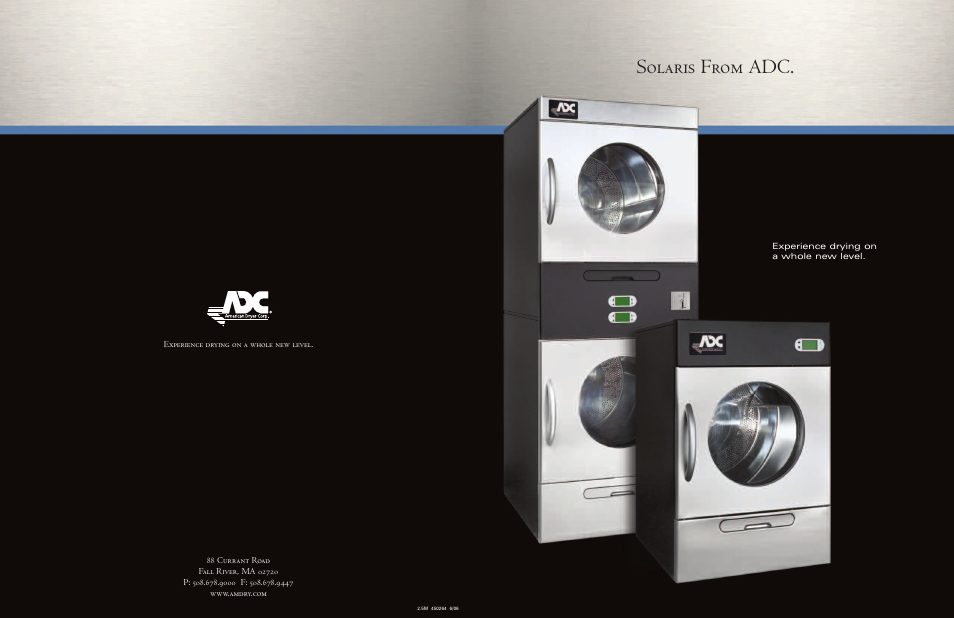 American Dryer Corp Sl75 User Manual 6 Pages Also For