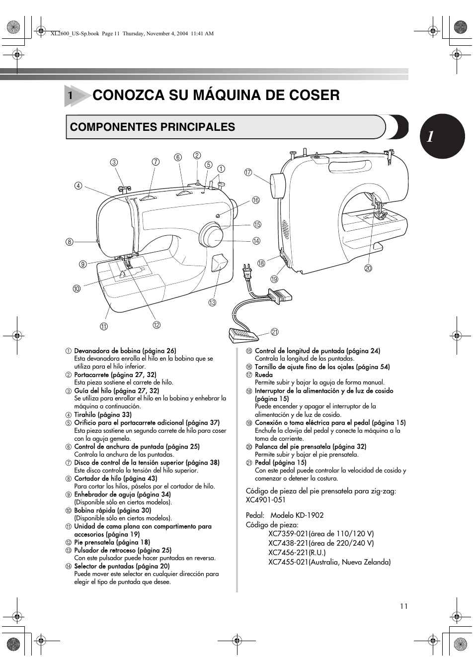 Service manual, brother nv900d: sewing parts online.