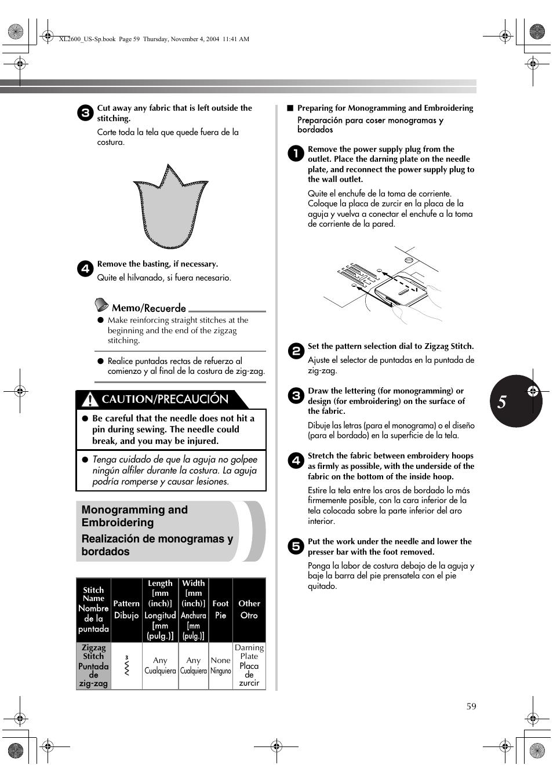 caution precauci n brother xl 2600i user manual page 60 82 rh manualsdir com brother xl2600i manual download brother xl2600i manual pdf