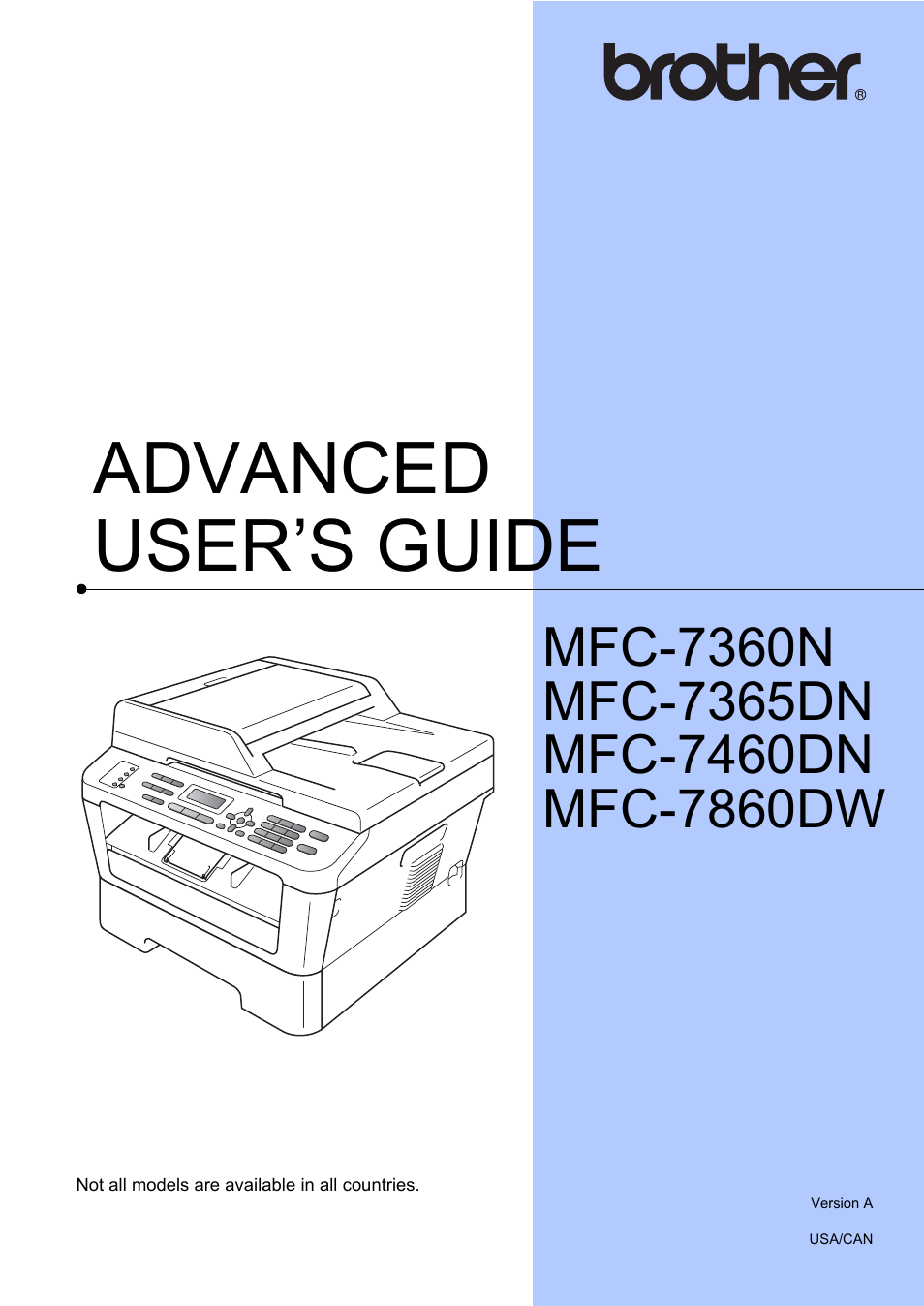 brother mfc 7460dn user manual 76 pages also for mfc 7860dw rh manualsdir com Back of Brother 7860DW Brother 7860DW Wireless Setup