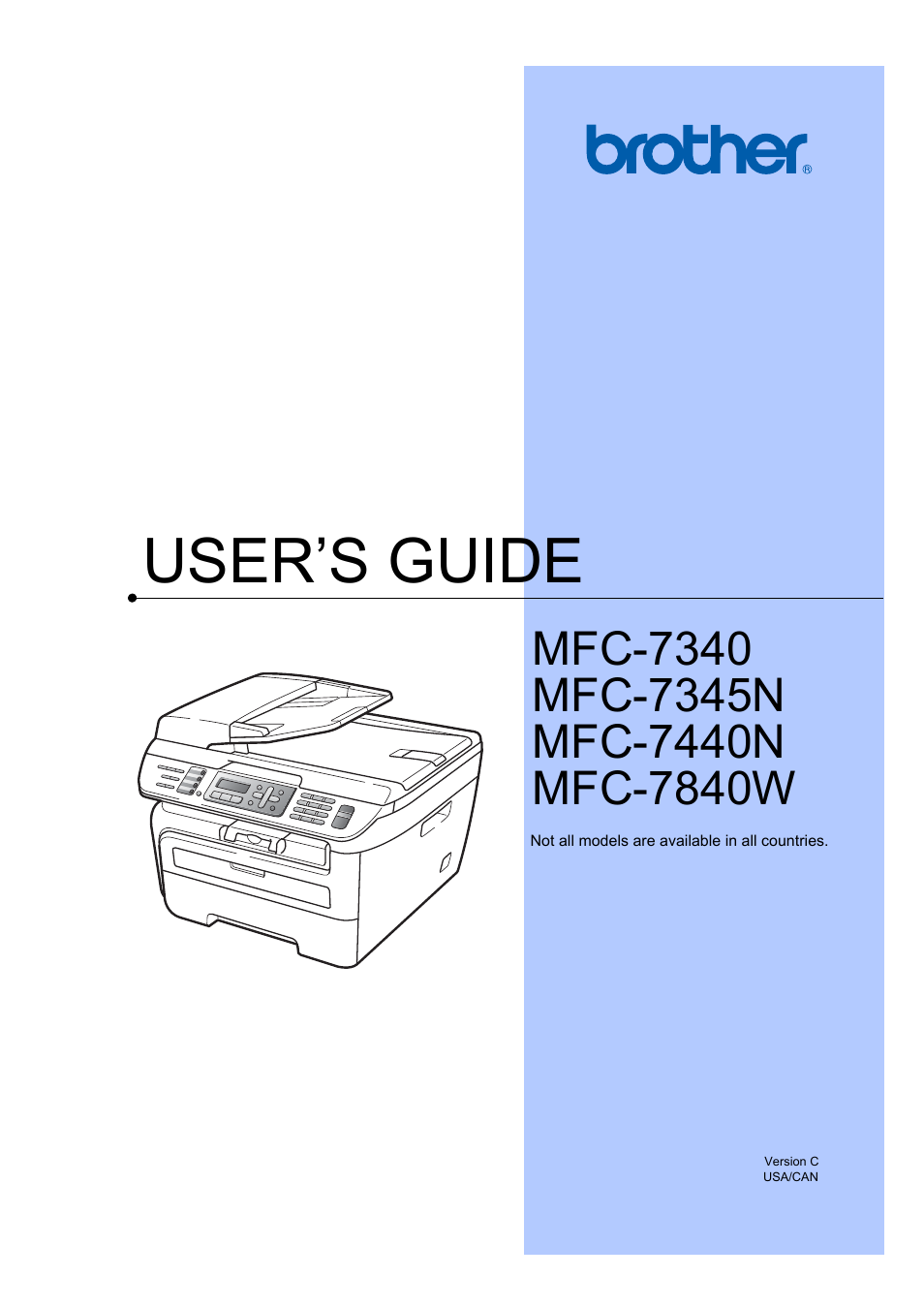 brother mfc 7840w user manual 192 pages also for mfc 7440n mfc rh manualsdir com MFC- 9130CW Brother MFC Black