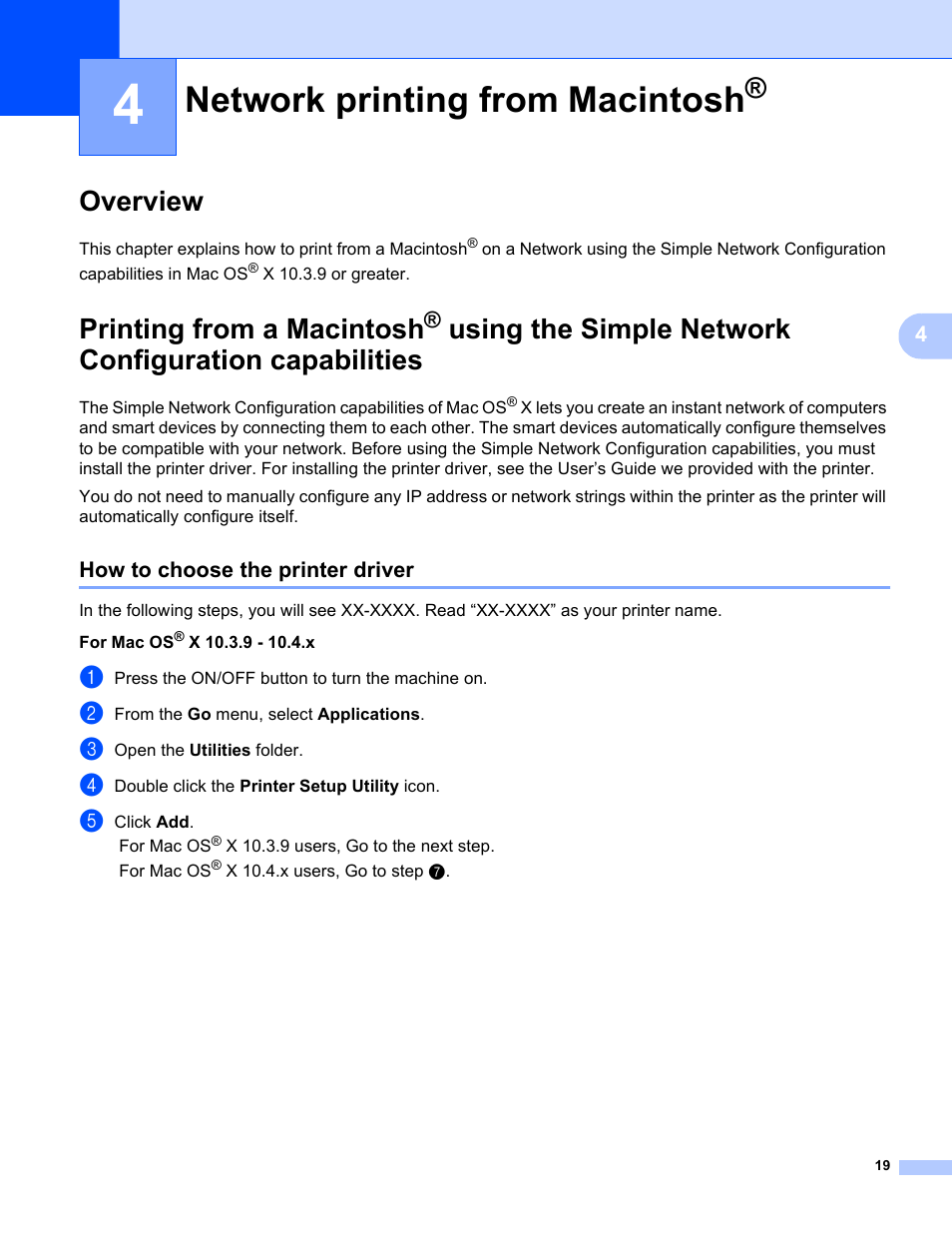 4 network printing from macintosh overview how to choose the rh manualsdir com Brother MFC-J430W Printer Software Brother Printer MFC-J435W Software