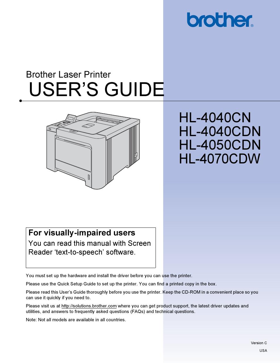 Brother hl-4040cn hl-4050cdn hl-4070cdw service manual download.