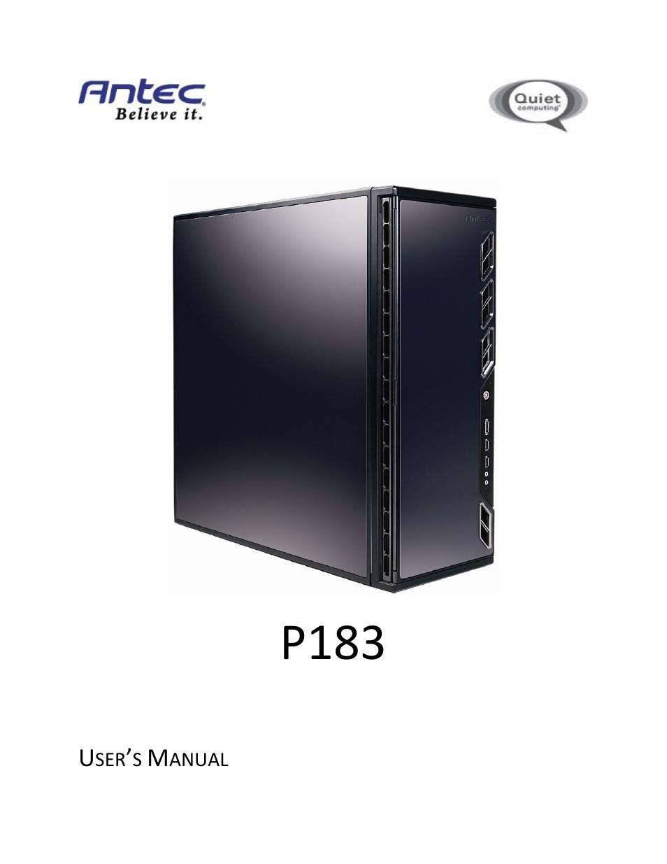 antec p183 user manual 13 pages rh manualsdir com Antec P183 V3 Review Antec P110